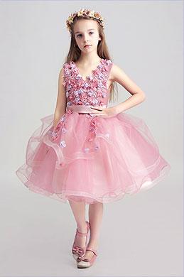 eDressit Lovely Pink Little Girl Wedding Flower Girl Dress (28190101)