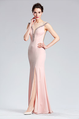 eDressit Pink Sleeveless Long split Prom Party Dress (36183801)