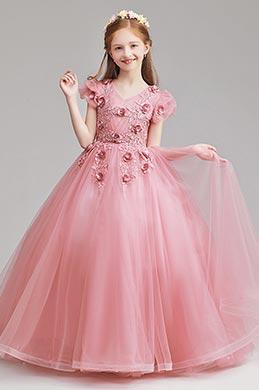 eDressit Long Lovely Pink Flower Girl Dress (27190946)