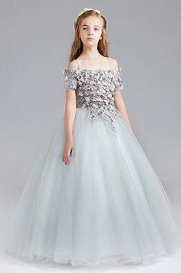 eDressit Tulle Flora Handmade Wedding Flower Girl Party Dress (27199808)