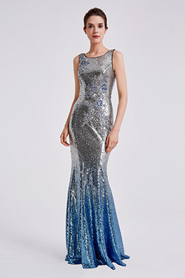eDressit 2019 New Sequins Silver-Blue Party Evening Dress (02190526)
