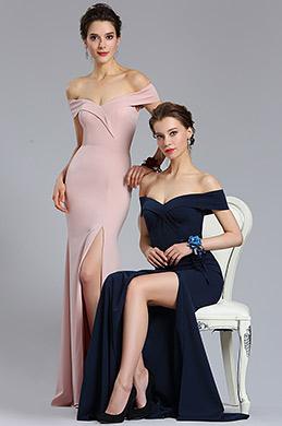 eDressit Nouveauté Robe de Soirée Rose à Épaules Dénudées (02182846)