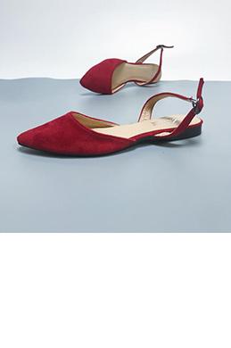 eDressit Suede Open Heel Pointed Flat Shoes (0919060)