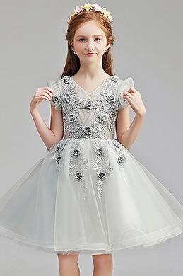 eDressit Lovely Grey Short Wedding Flower Girl Dress (28194408)