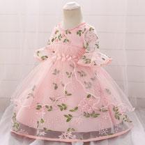 eDressit Embroidery Short Sleeves Baby Dress Infant Dress (2319028)