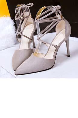 Women's Elegant Suede Closed Toe High Heel Pumps Shoes (0919029)