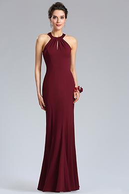 eDressit Sexy Halter Burgundy  Mermaid Evening Party Dress (36184317)