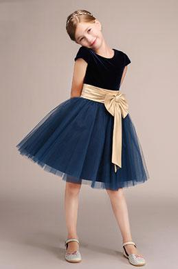 eDressit Short Sleeves Velvet Princess Flower Girl Dress (28191705)