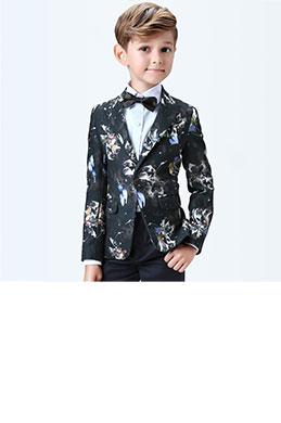 eDressit Boys Print One Button Closure Suits Tuxedo (16190568)