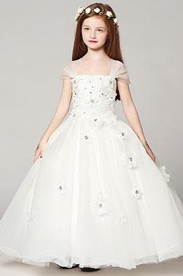 eDressit White Lovely Wedding Flower Girl Party Dress (27191107)