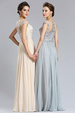 eDressit Elegant A Line Cap sleeve Beige Prom Evening Dress (00182914)