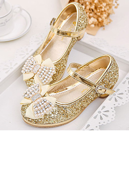 Girl's New Sequins Beadings Closed Toe Party Dance Shoes (250037)