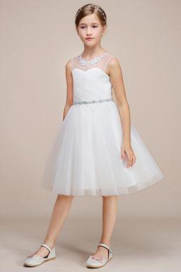 eDressit White Tulle Wedding Flower Girl Party Dress (28191907)