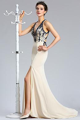 eDressit Robe de Soirée Sexy Col en V avec la Fente haute (36182814)