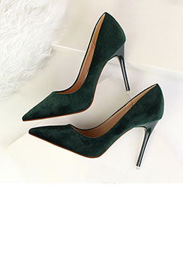 Women's Elegant Velvet High Heel Pumps Shoes (0919018)