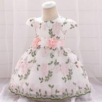 eDressit Lovely Embroidery Short Sleeves Baby Dress (2319045)