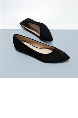 eDressit Simple Suede Toe Closed Pointed Flat Shoes (0919061)