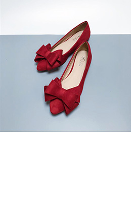 eDressit Suede Toe Closed Pointed Flat Shoes With Bowknot (0919057)