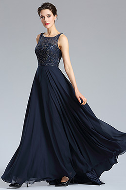 eDressit Blue Beaded A-line Prom Gown Formal Wear (36181705)