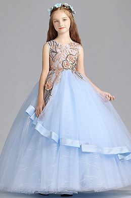 eDressit Princesse Bleu Enfants Mariage Robe Pour Fille (27196905)