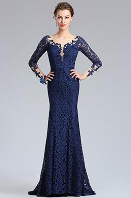eDressit Robe en Sirène Dentelles Bleu Marine Robe de Bal (26181605)