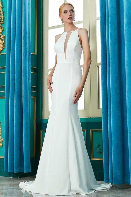 eDressit New White Halter Mermaid Party Wedding Dress (01200707)