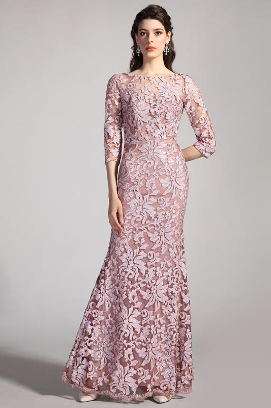 eDressit Delicate Embroidery Lace Half Sleeves Party Evening Dress (26201646)