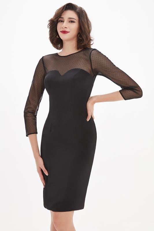eDressit Black Illusion Sweetheart Spot Tulle Short Mother Dress (26210800)