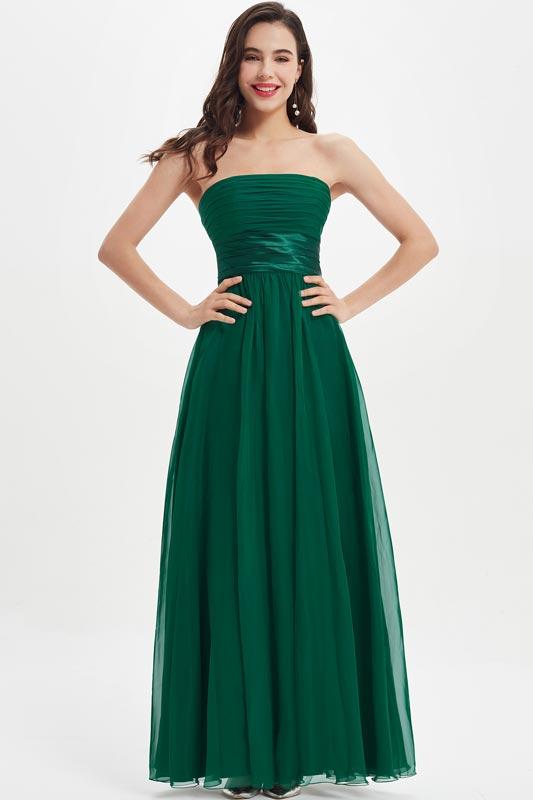 eDressit Corset Strapless Dark Green Wedding Bridesmaid Dress (07210304)