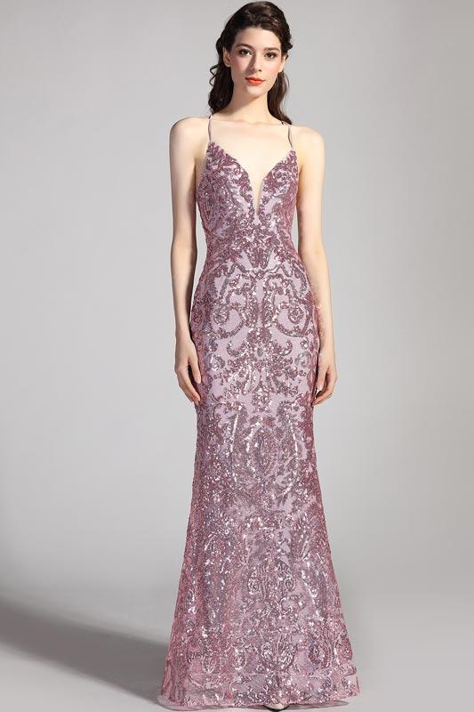 eDressit Spaghetti V-Cut Gorgeous Beaded Party Prom Dress (02204646)