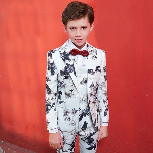 New Chic Printed 5 Pieces Boys' Suit Kids Suit (T16020)