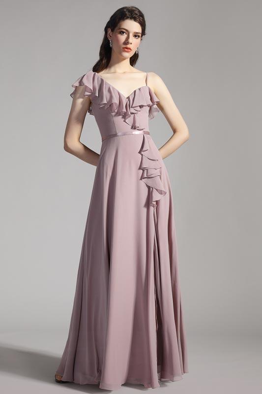eDressit Unique Ruffle Straps High Slit Party Evening Dress (07200546)
