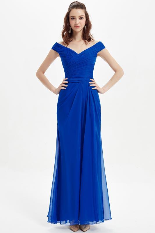 eDressit Off Shoulder Royal Blue Evening Gown Bridesmaid Dress (07210205)