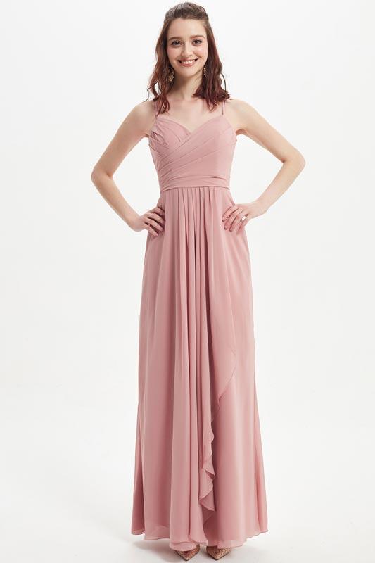 eDressit Dusty Rose Spaghetti Straps Long Bridesmaid Dress (07216601)