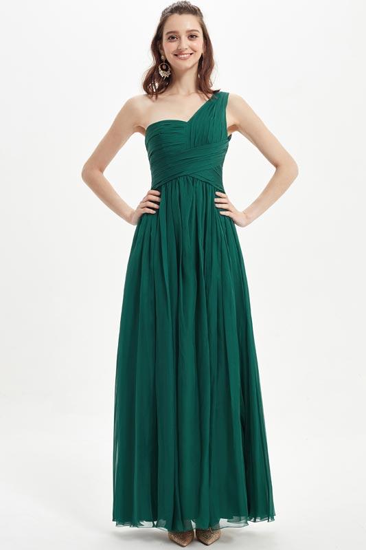 eDressit Green One Shoulder Chiffon Wedding Bridesmaid Dresses (07210604)