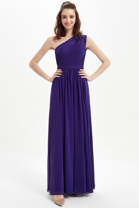 eDressit Purple One Shoulder Elegant Wedding Bridesmaid Party Dress (07212806)
