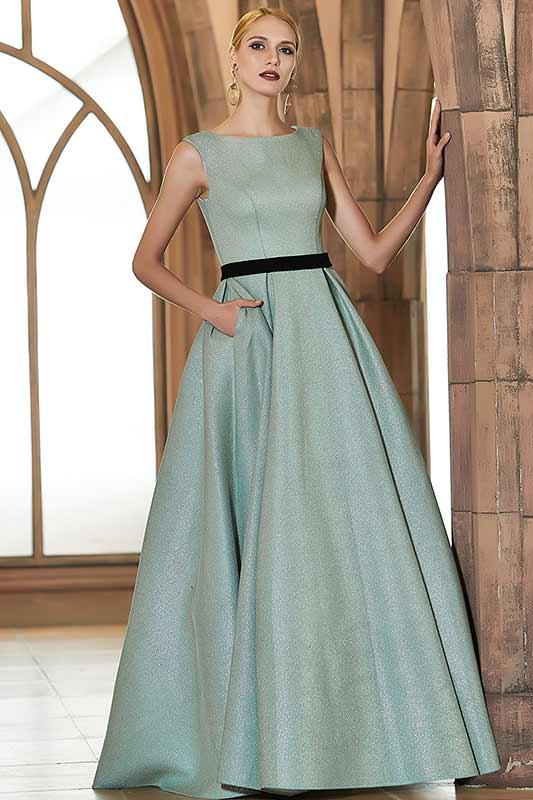 eDressit Green Sleeveless Shiny Elegant Long Party Ball Evening Dress (02201804)