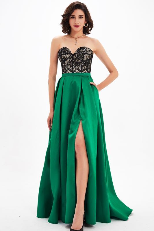 eDressit Sweetheart Lace High Slit Evening Dress (00210404)