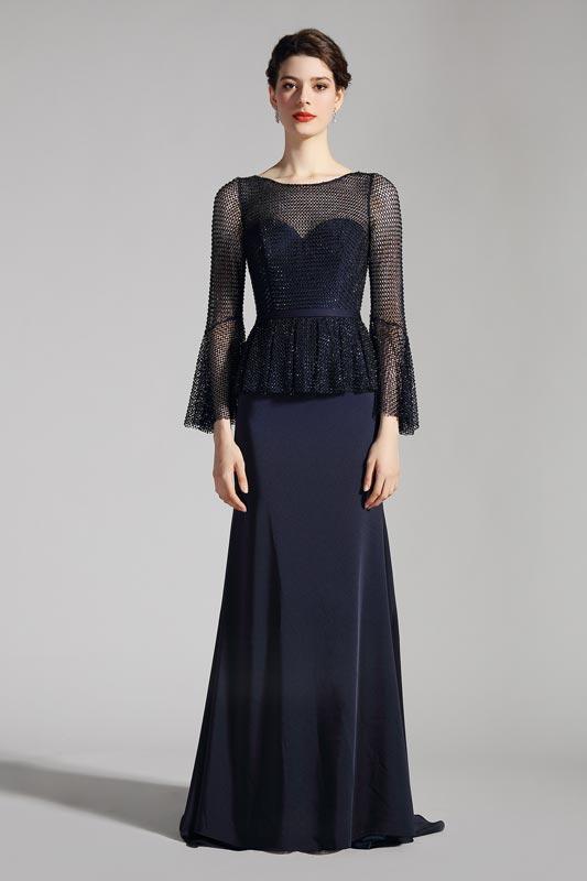 eDressit Navy Blue Sleeves Sweetheart Bodice Party Dress (26201705)