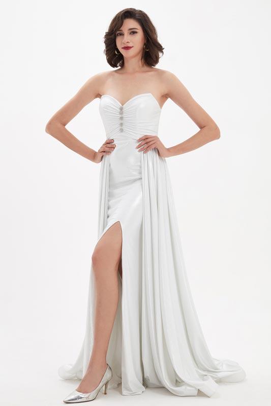 eDressit Sexy White Corset V-Cut Overlay Bridal Wedding Dress (01210107)