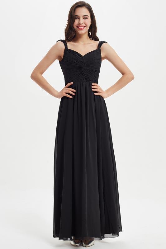 eDressit Black Beads Straps V-Cut Bridesmaid Dress (07211500)