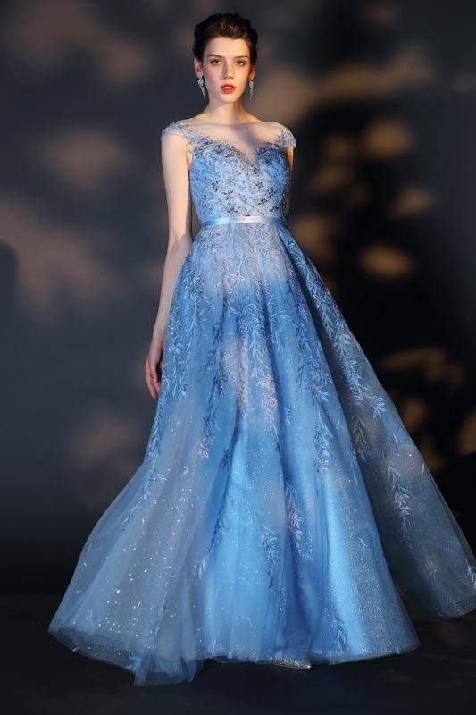 eDressit Elegant Cap Sleeveless Lace Applique Formal Dress (02204105)