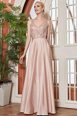 eDressit New Chic V-Cut  Beadeded Long Party Evening Dress (00202446)