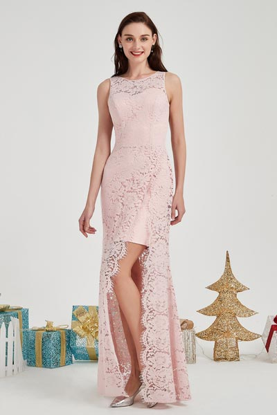 eDressit Pink Lace Sweetheart Bodice Party Evening Dress (02203601)