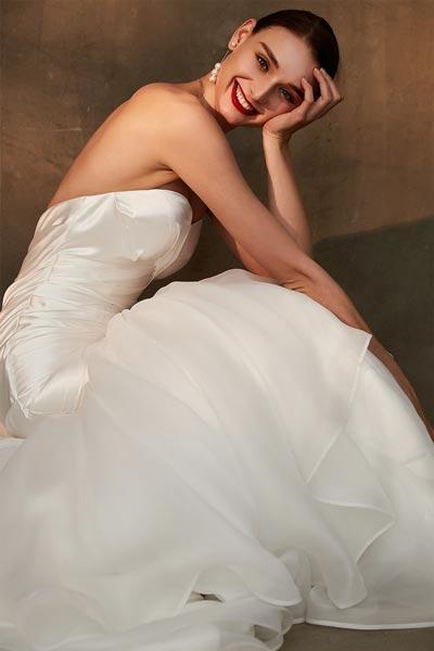 White Wedding Party Dress Sweetheart Corset  Bridal Dress(01200407)