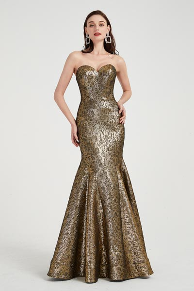 eDressit Strapless Sweetheart Shiny Jacquard Mermaid Prom Gown (02203224)