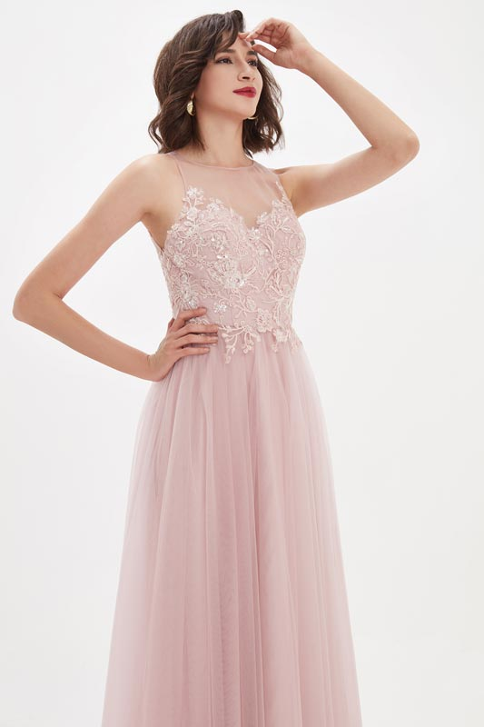 eDressit Chic A Line Lace Sleeveless Evening Dress Formal Gown (00211501)
