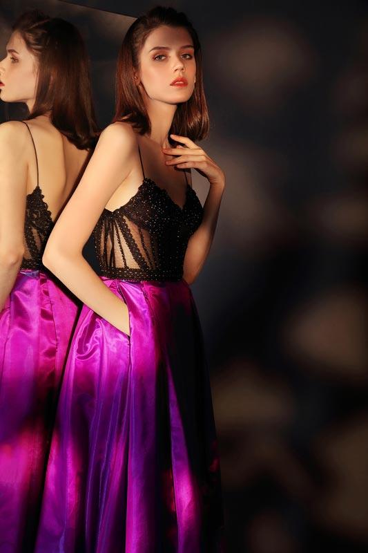 eDressit New Spaghetti V-Cut High Slit Party Evening Dress (00207312)