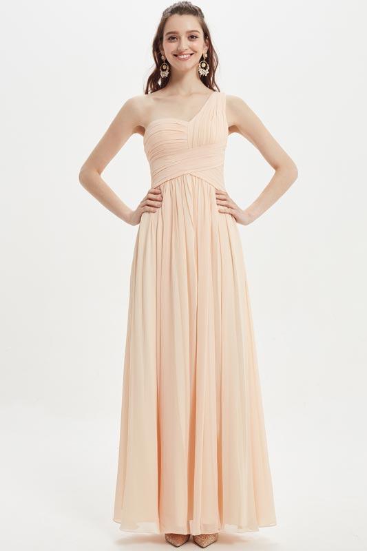 eDressit Sexy One Shoulder Chiffon Wedding Bridesmaid Dresses (07210610)