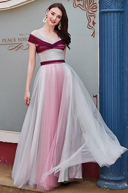 eDressit New V-Cut Straps Gradient Colour Party Bridesmaid Dress (00200846)